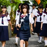 Why do Japanese school girls wear uniforms on weekends?